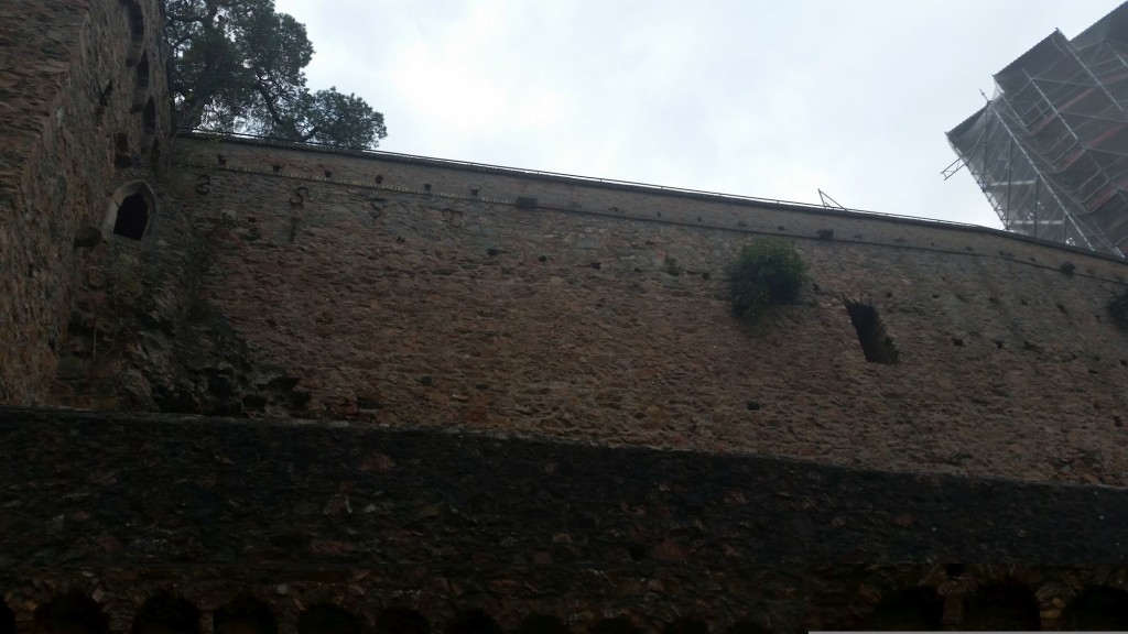 View of the castle wall from the jousting area